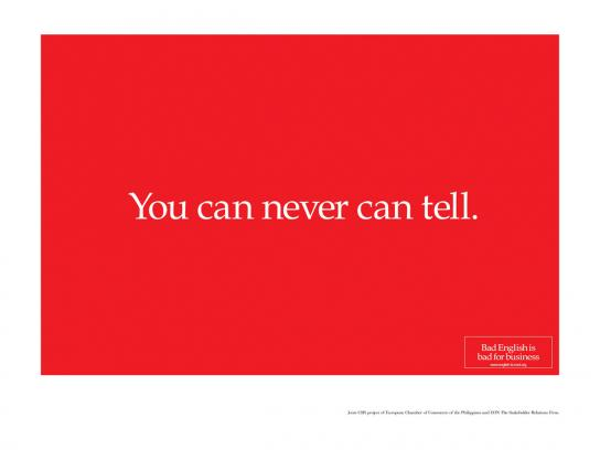 You can never can tell