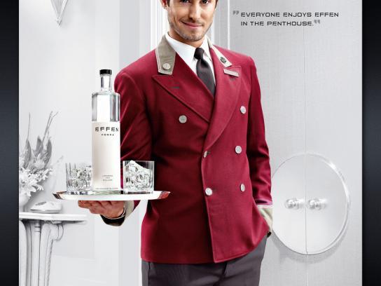 Effen Vodka Print Ad -  Bellhop