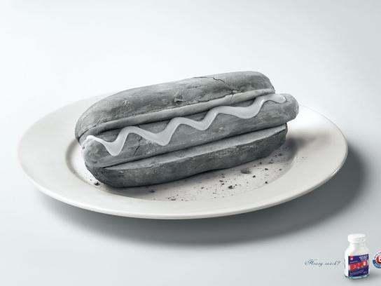 Eno Print Ad -  Hot-dog