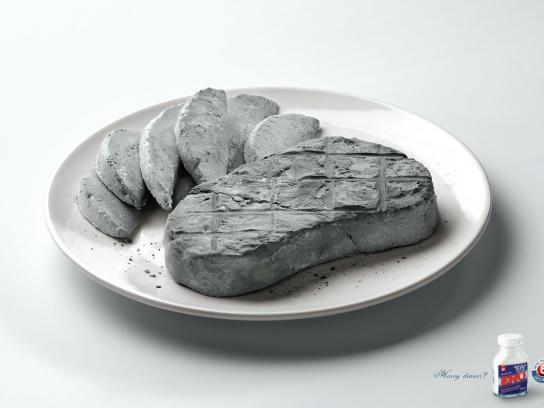 Eno Print Ad -  Steak