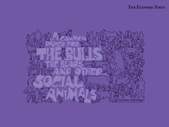The Economic Times Print Ad -  Social animals