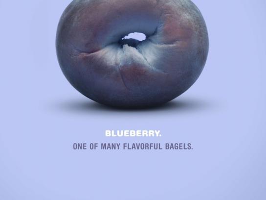 Elaine's Bagels Print Ad -  Blueberry