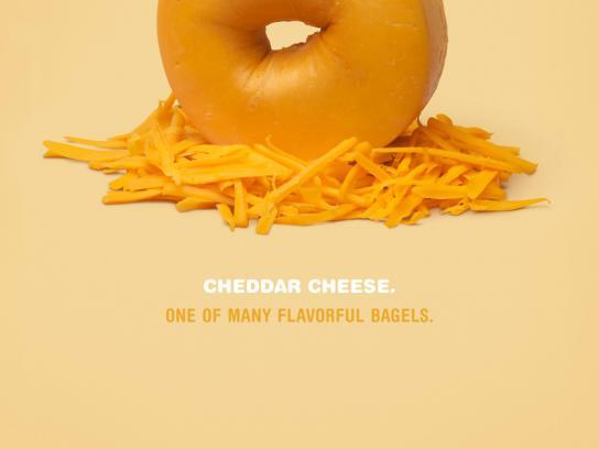 Elaine's Bagels Print Ad -  Cheese