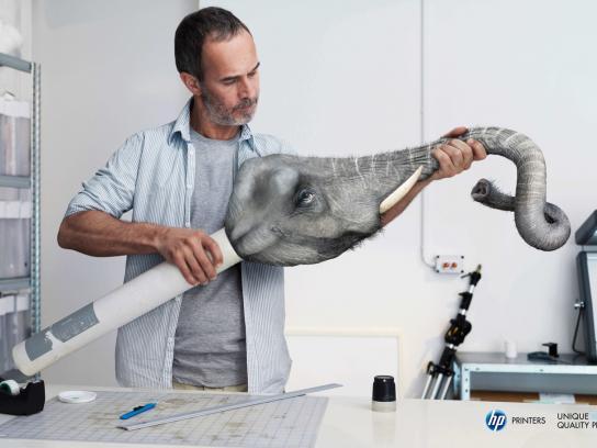 HP Print Ad -  Elephant