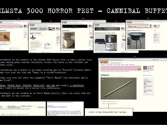 Elmsta 3000 Horror Fest Digital Ad -  Cannibal buffet