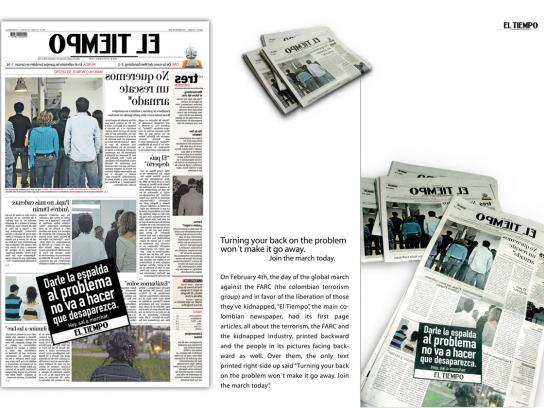 El Tiempo Print Ad -  Face the problem