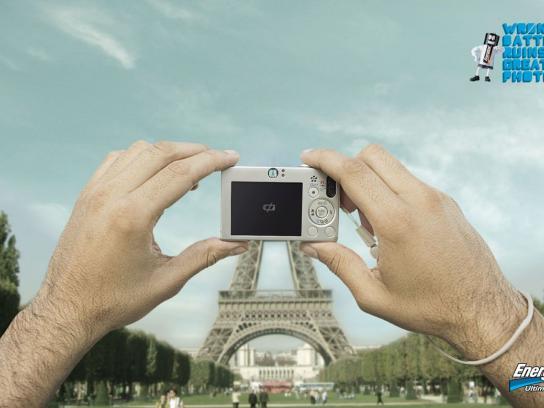 Energizer Print Ad -  Eiffel Tower