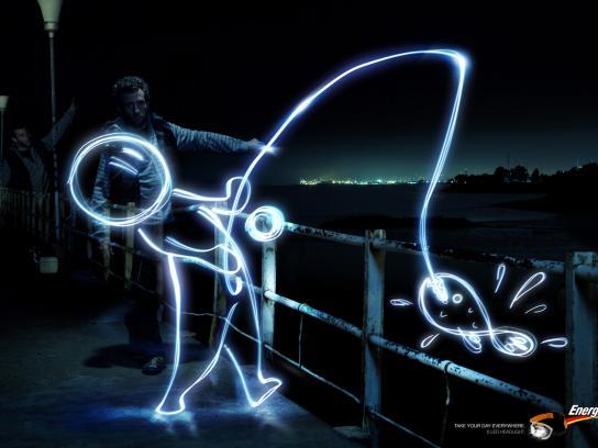 Energizer Print Ad -  Fisherman