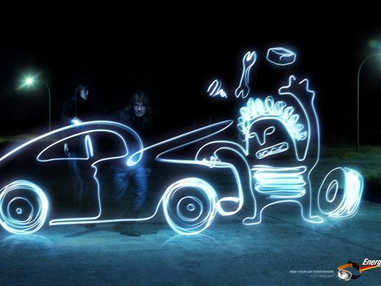 Energizer Print Ad -  Mechanic