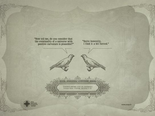 ENPA Print Ad -  Smart Creatures, Bird
