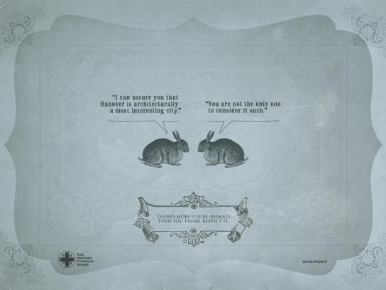 ENPA Print Ad -  Smart Creatures, Rabbit