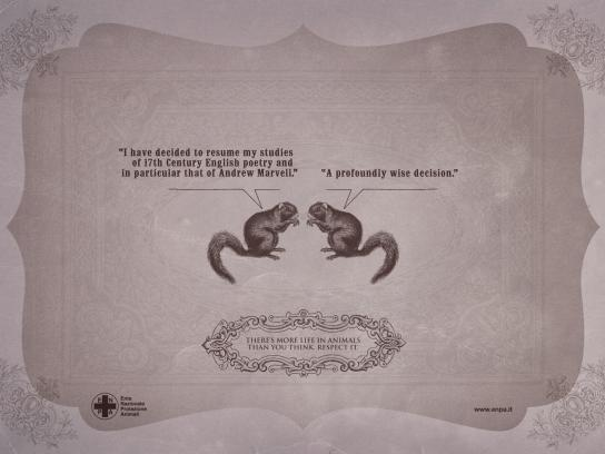 ENPA Print Ad -  Smart Creatures, Squirrel
