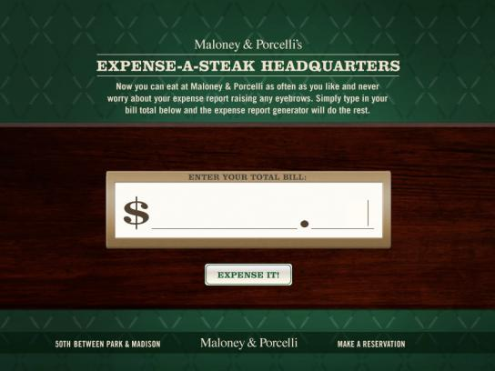 Maloney & Porcelli Digital Ad -  Expense Report Generator