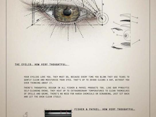 Fisher & Paykel Print Ad -  Eyelid