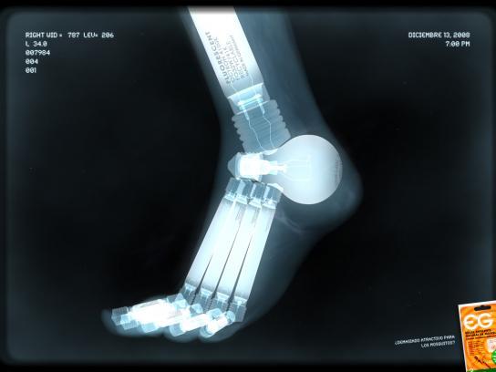 EG Repellent Print Ad -  Fluorescent foot