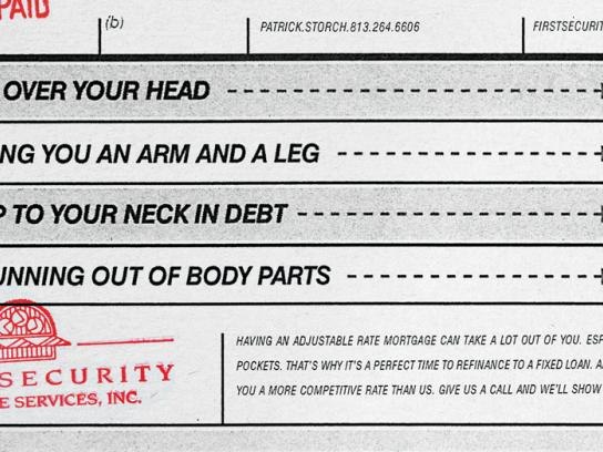 First Security Mortgage Services Print Ad -  Body parts