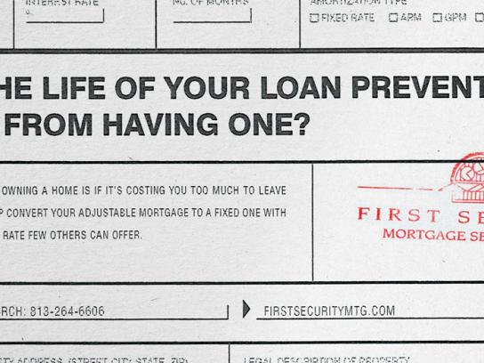 First Security Mortgage Services Print Ad -  Life