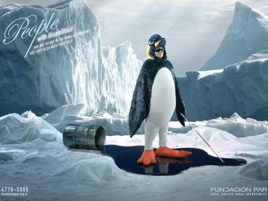 Fundación Par Print Ad -  Penguin