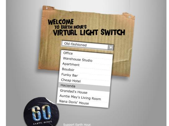 Earth Hour Digital Ad -  Virtual Light Switch