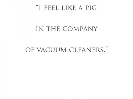 Fact & Fiction Bookshop Print Ad -  Pig