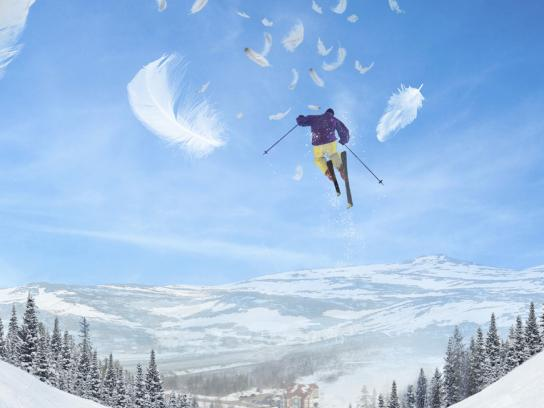 Marble Mountain Print Ad -  Feathers