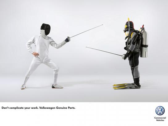 Volkswagen Print Ad -  Fencing