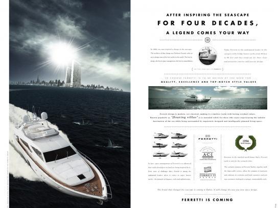 Ferretti Print Ad -  Sharks
