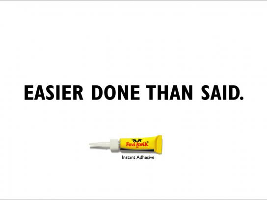 Fevi Kwik Print Ad -  Easier