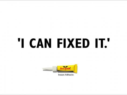 Fevi Kwik Print Ad -  Fixed