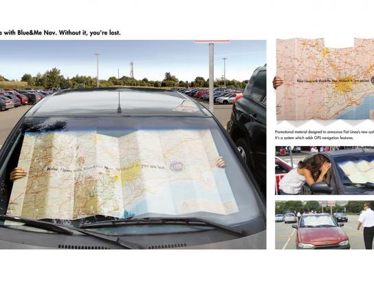 Fiat Ambient Ad -  Map