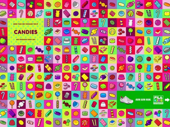 Fila Print Ad -  Candy