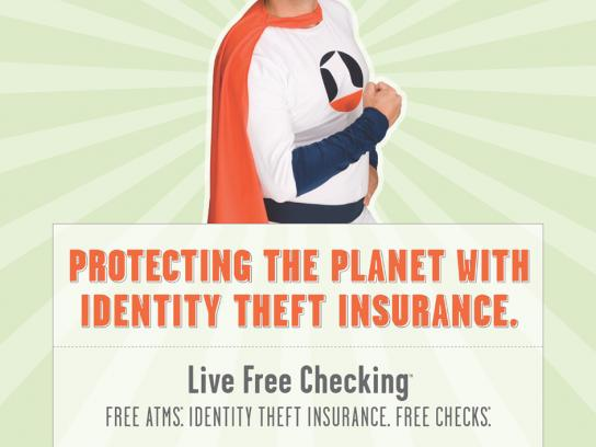 First Indiana Bank Print Ad -  Identity theft