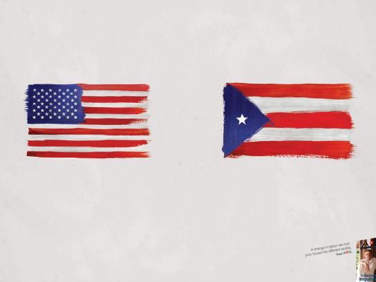 A+D Print Ad -  Flags, 1