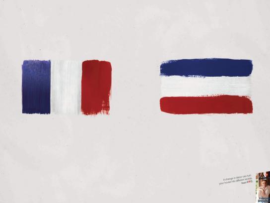 A+D Print Ad -  Flags, 3