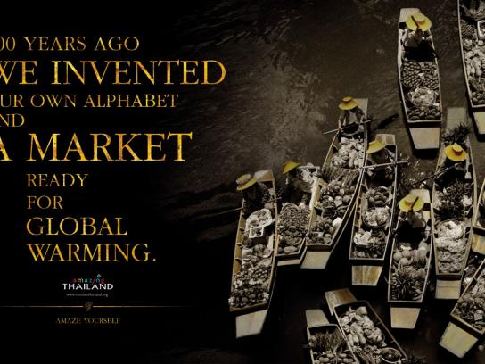 Tourism Thailand Print Ad -  Floating market