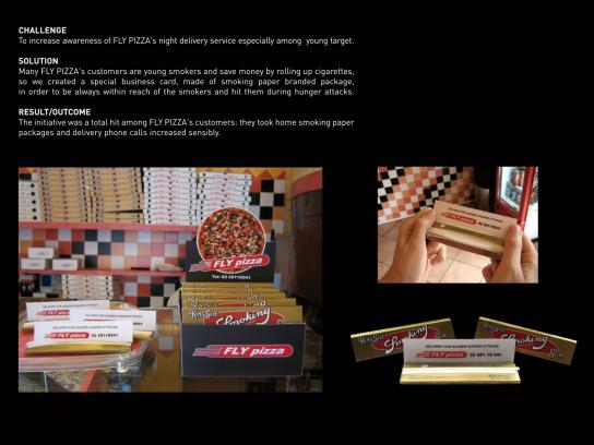Fly Pizza Ambient Ad -  Smokers