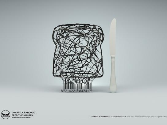 Food Banks Print Ad -  Bread