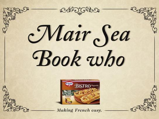 Dr. Oetker Print Ad -  Mair Sea Book who