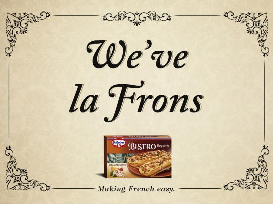 Dr. Oetker Print Ad -  We've la Frohns