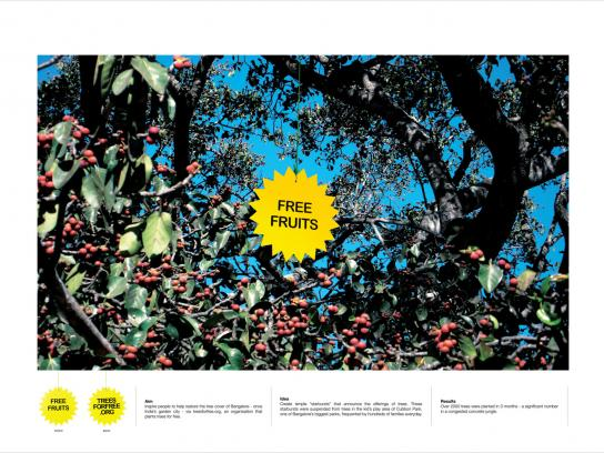 treesforfree Ambient Ad -  Fruits