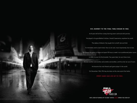 Full Tilt Poker Print Ad -  Journey