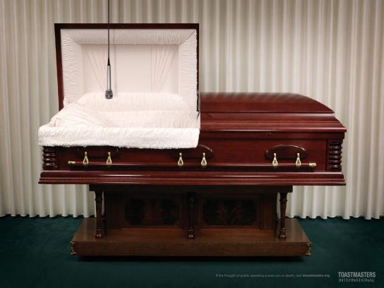 Toastmasters International Print Ad -  The Funeral