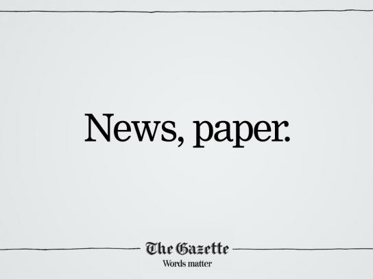 The Gazette Print Ad -  News