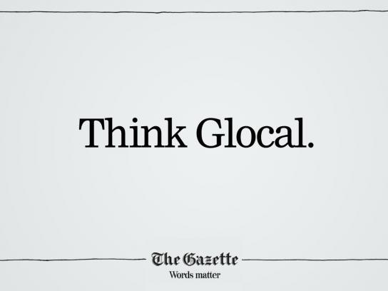 The Gazette Print Ad -  Glocal