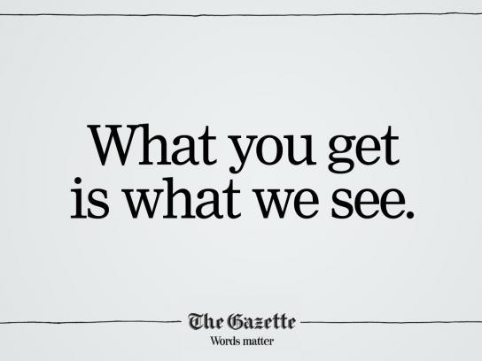 The Gazette Print Ad -  You