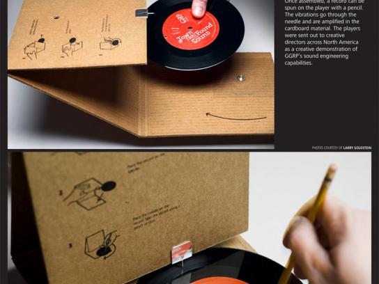 GGRP Direct Ad -  Cardboard Record Player