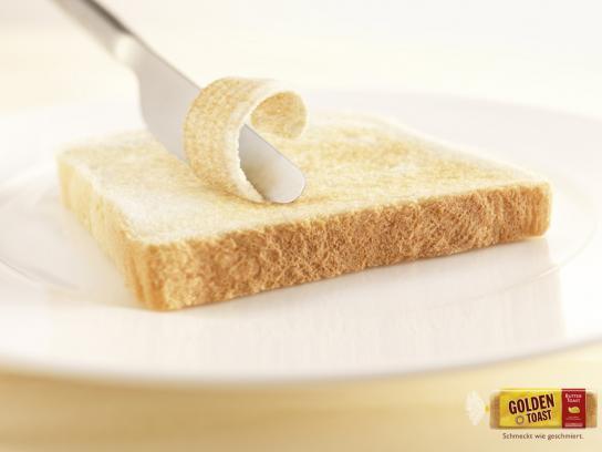 Golden Toast Print Ad -  Butter