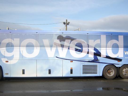 Visa Ambient Ad -  Go World, Go world bus