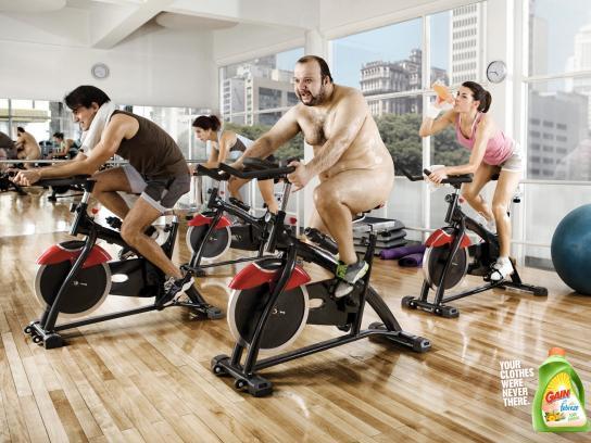Gain Print Ad -  Gym
