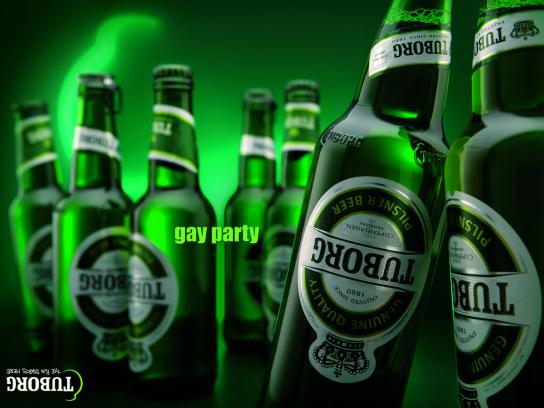 Tuborg Print Ad -  Gay party